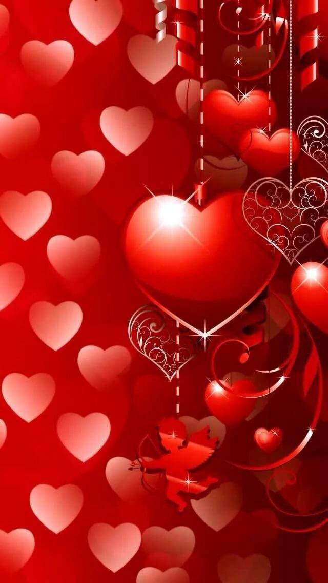 Картинки на телефон сердечки любовь