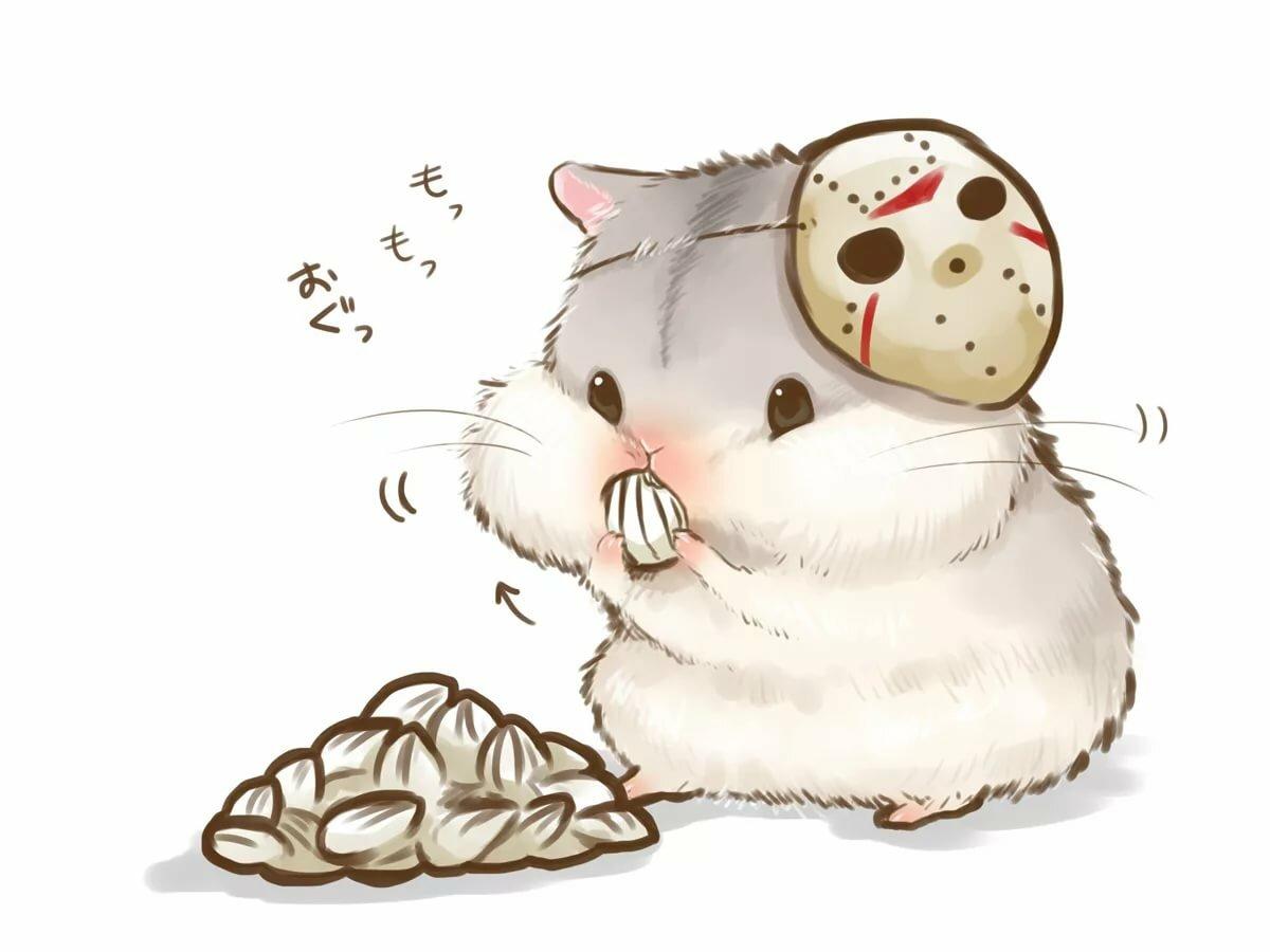 история рисунки хомячок с печенькой нашего центра