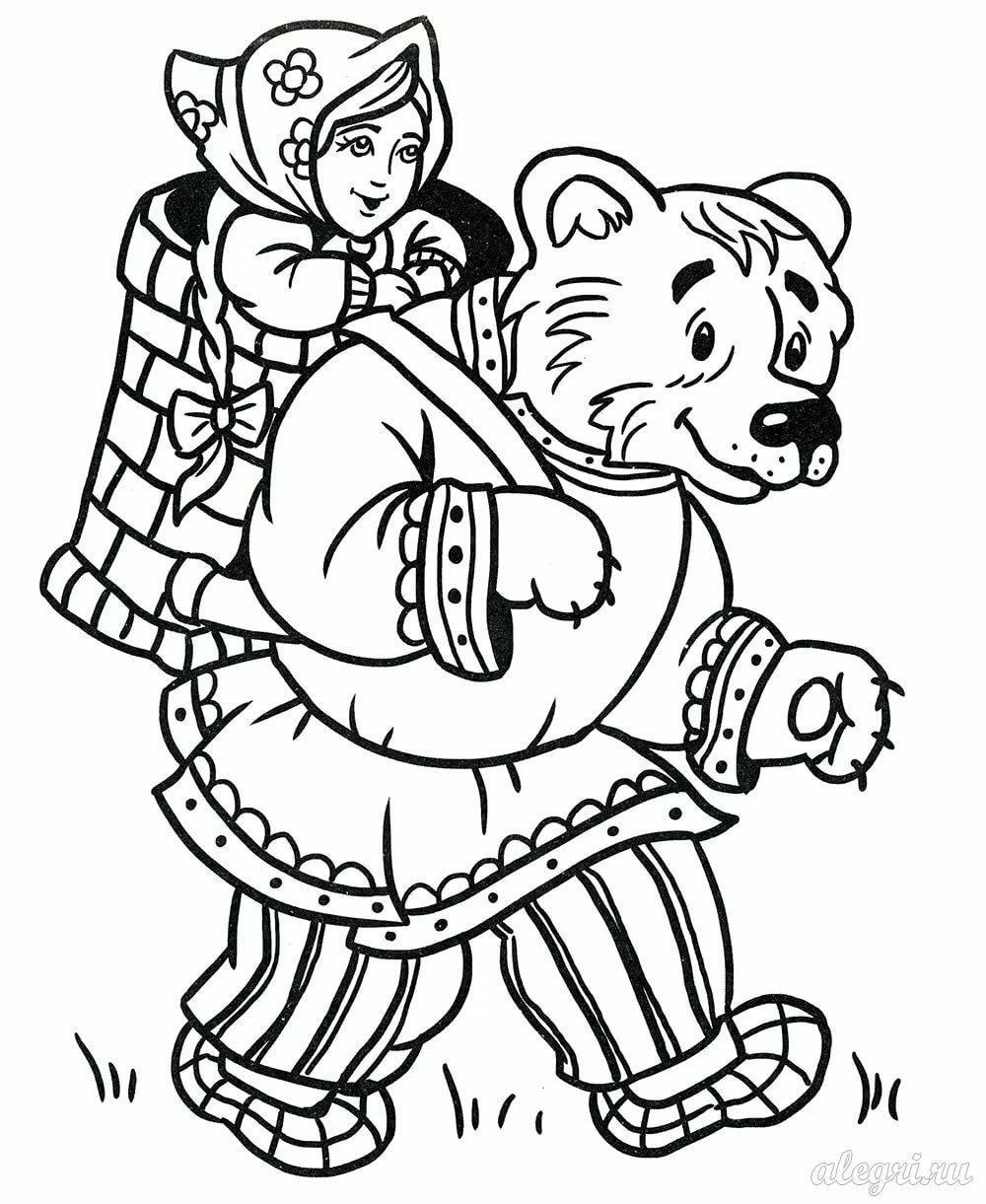 Раскраска по сказкам для детей