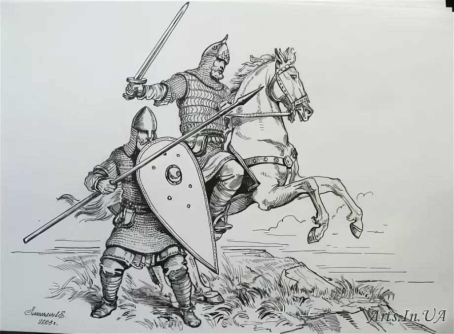 Картинки на тему древнерусские воины