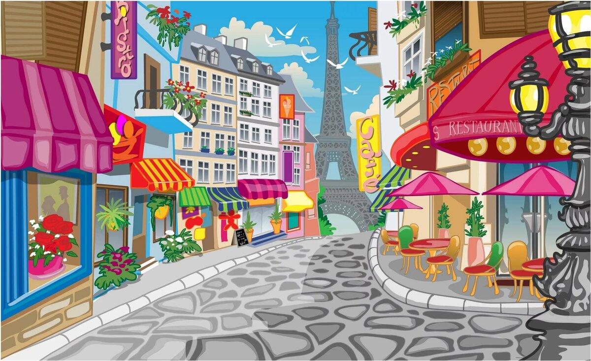 В городе картинка для детей