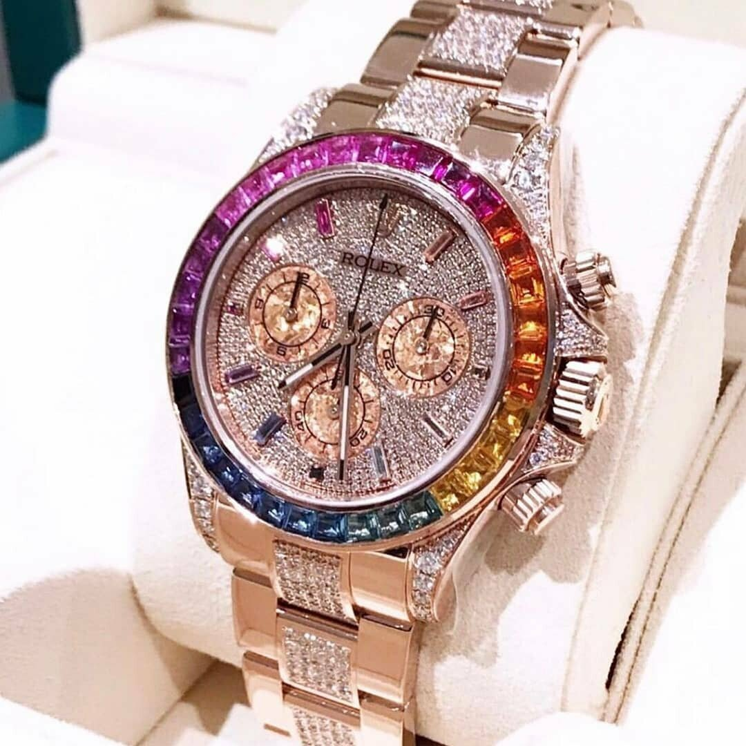 Часы Rolex White Gold Daytona Rainbow в Семее
