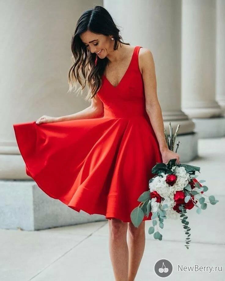 Красное платье фото картинки