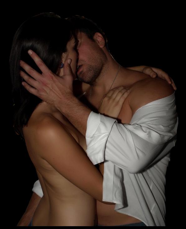 Гифы мужчина и женщина нежность