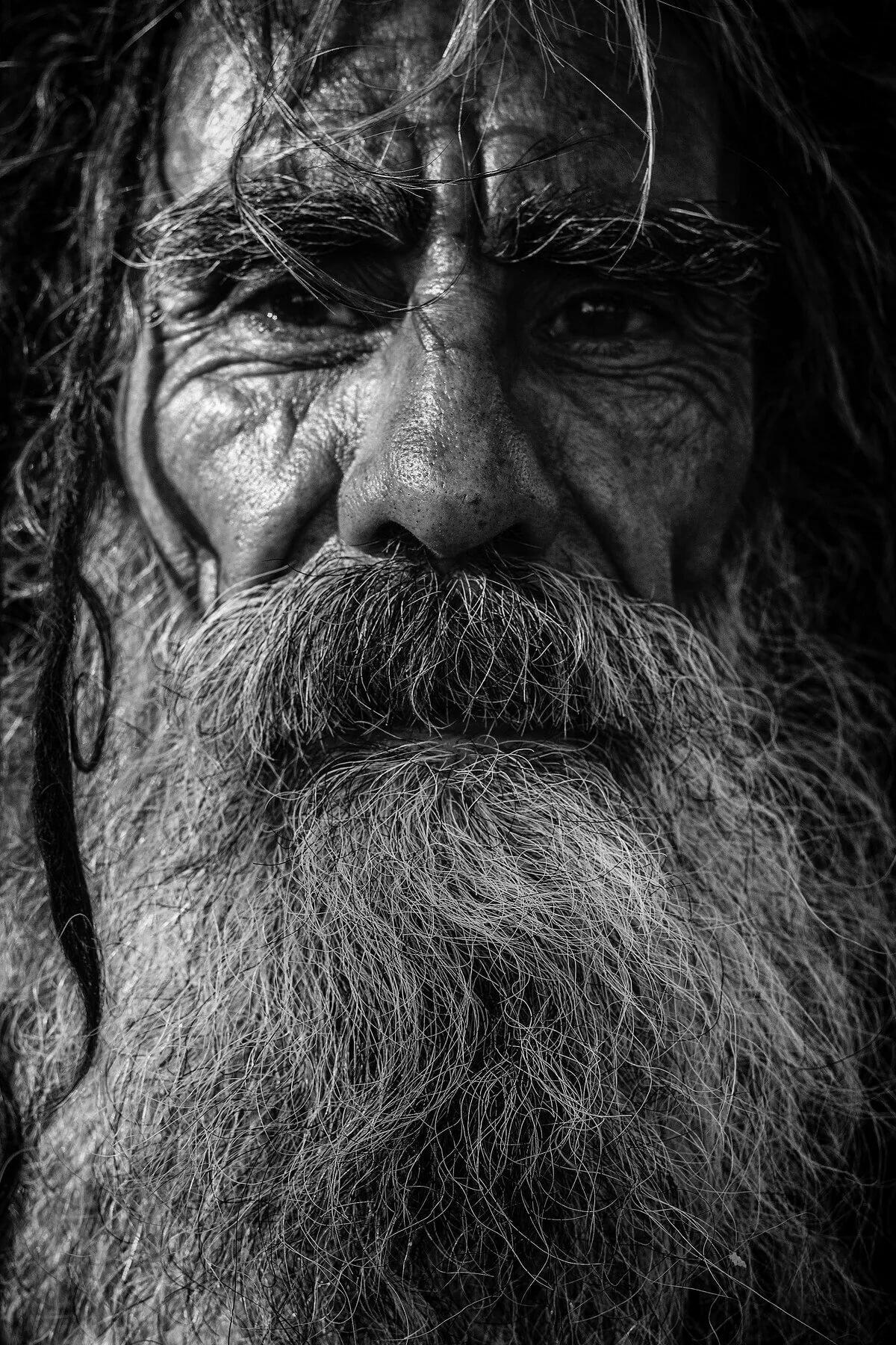картинка старик с бородой свою