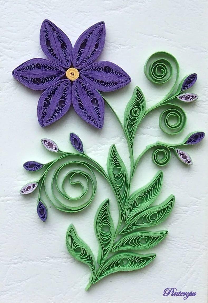 Рисунок квиллинг цветы