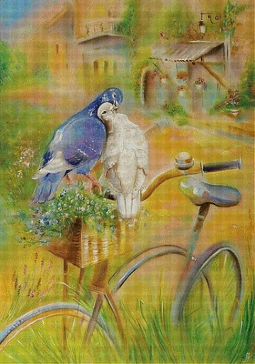 Пожелания спокойной, а открытки с голубями все летят ко мне из детства