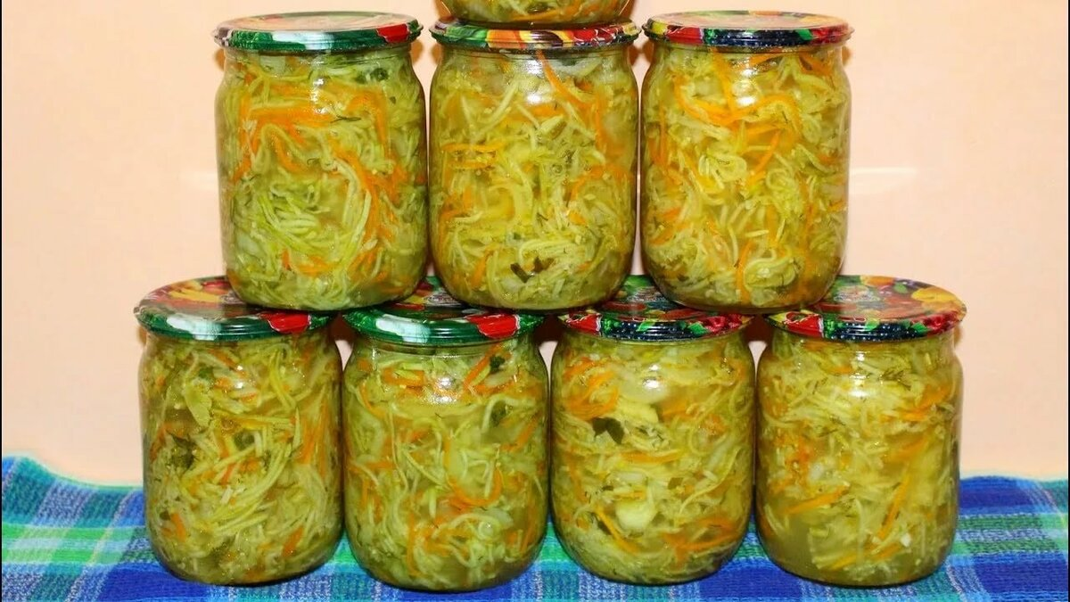 Кабачки консервация на зиму рецепт с фото