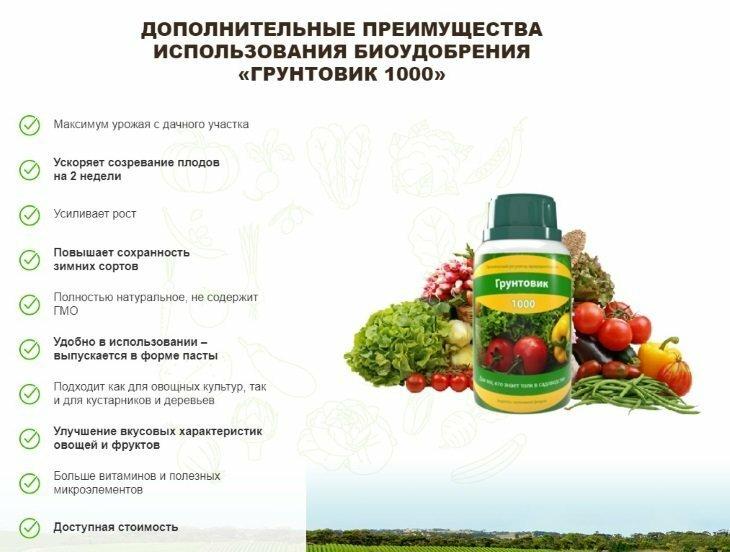 Биоудобрение Грунтовик-1000 в Уссурийске