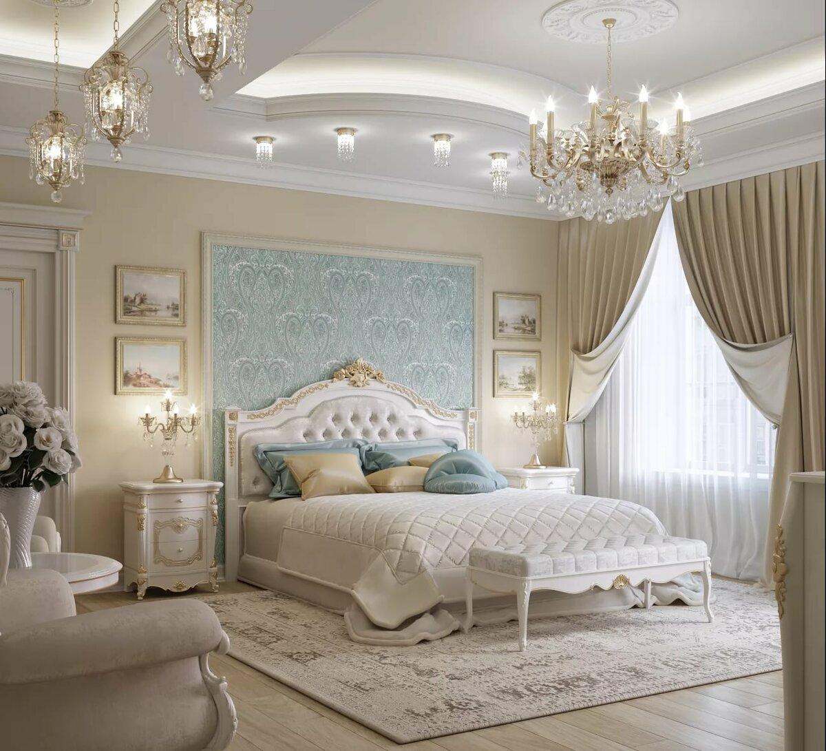 всех картинки спальни в классическом стиле этого эффекта