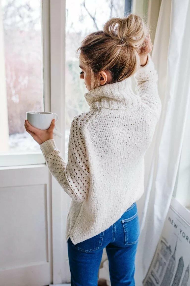 Картинки девушки в теплом свитере
