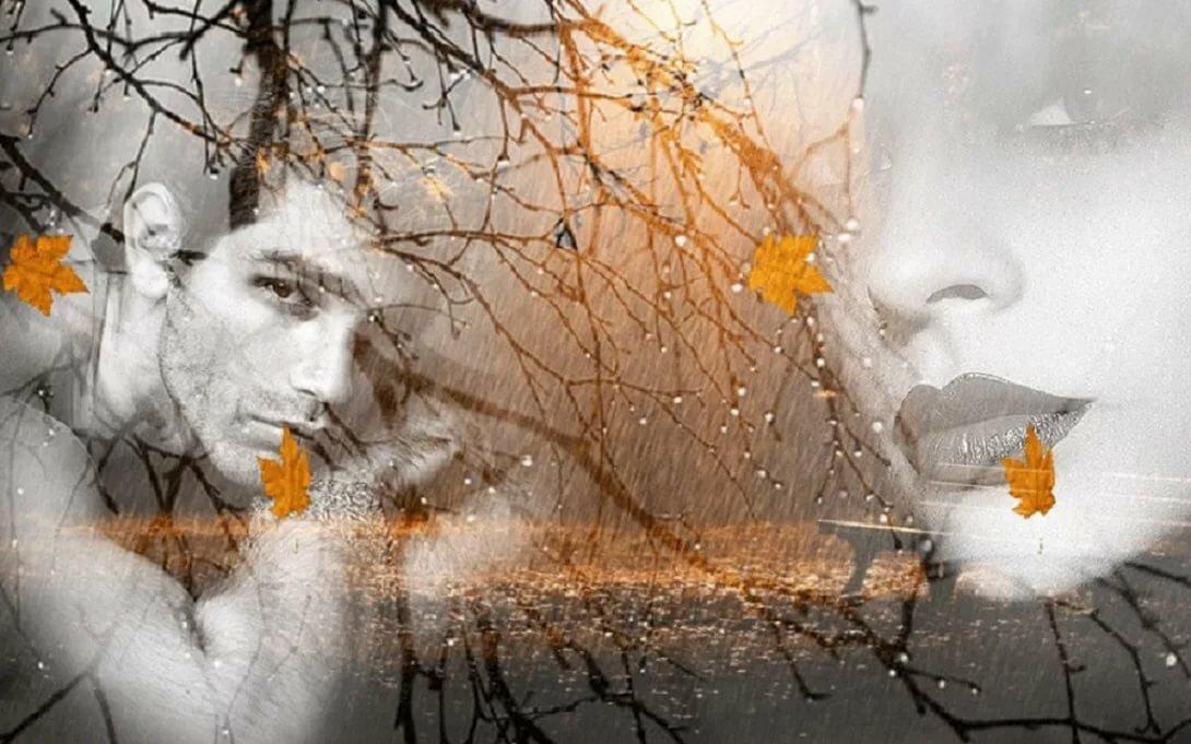 Открытки осень грусть