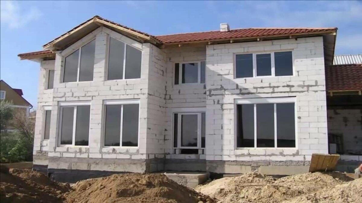 строительство частного дома из пеноблоков