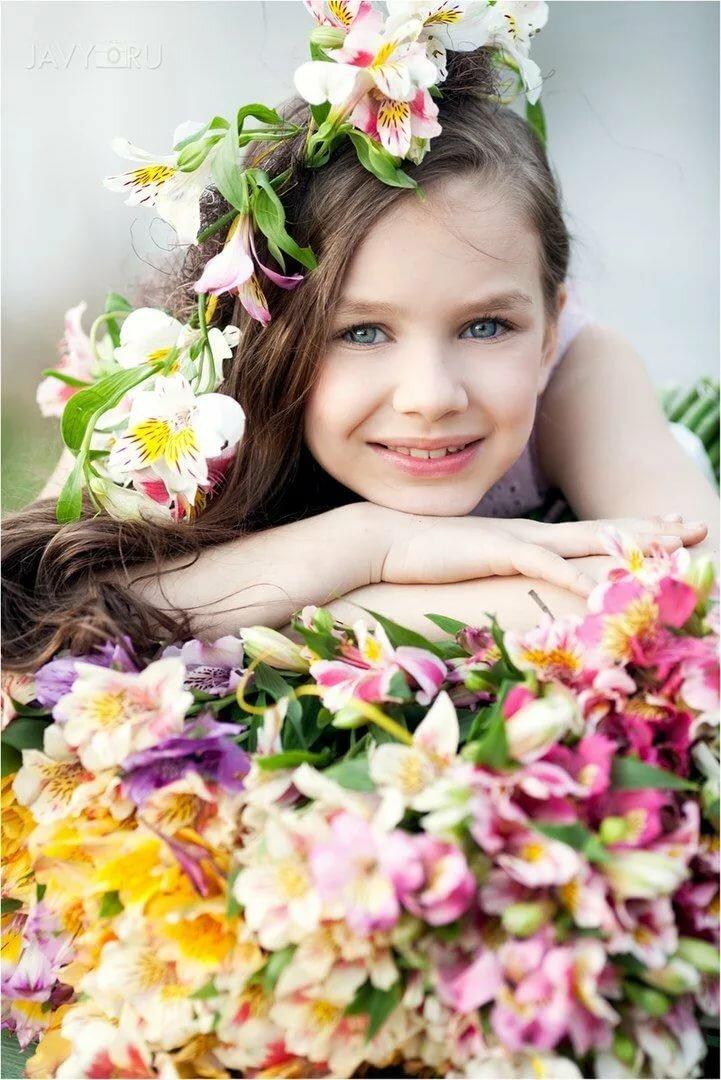Фото с цветами и детьми