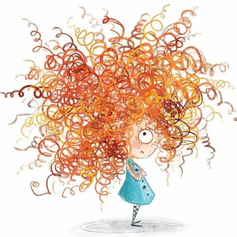 обсудим волосы смешной рисунок современном интерьере