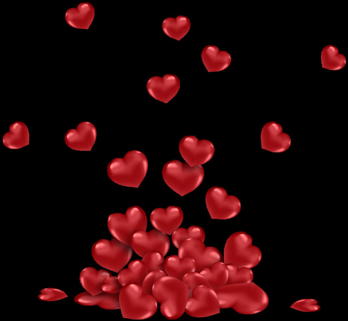 Картинка сердечки прозрачный фон