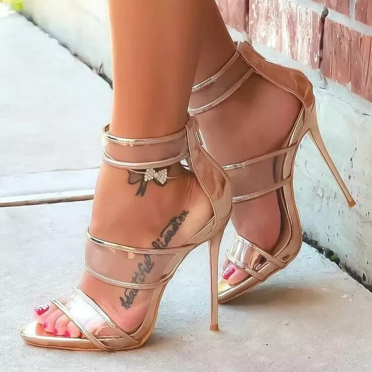 Heel high sandal sexy stiletto strappy