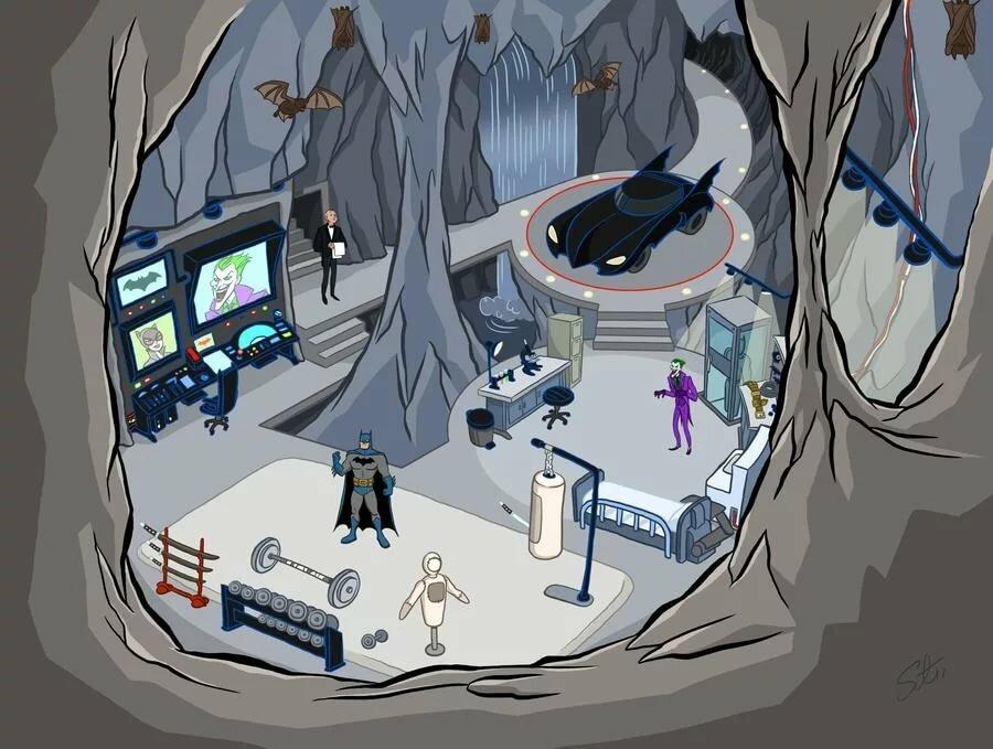 Бэтмен пещера картинки помада