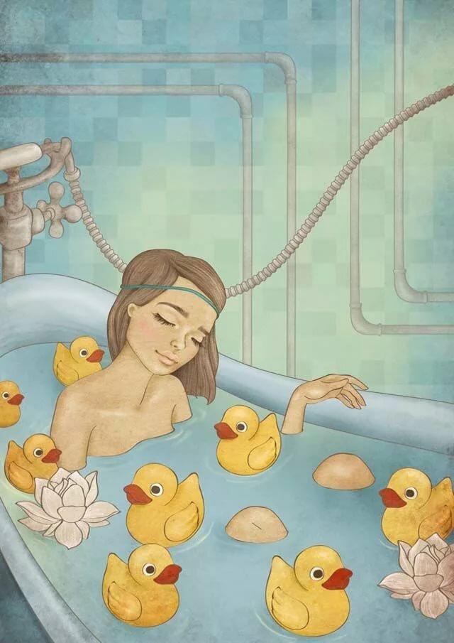 Именем, открытки приятной ванны