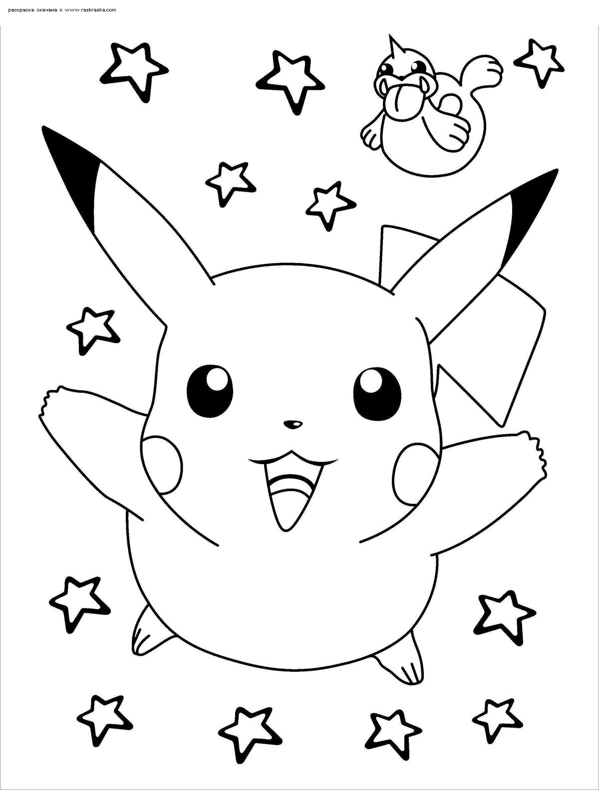 «Раскраска Покемон Пикачу Раскраски Пикачу (Pikachu ...