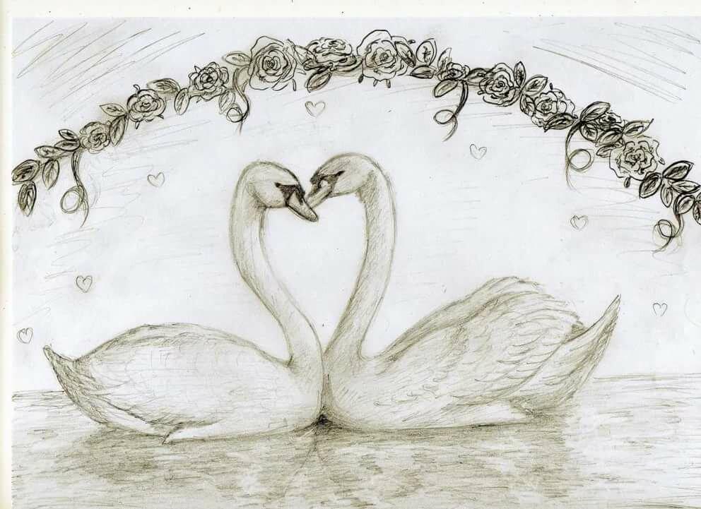 подарок это рисунки на тему любви карандашом его