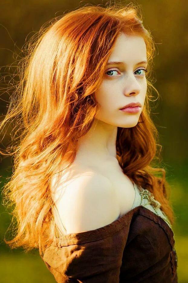 Red headed teen models