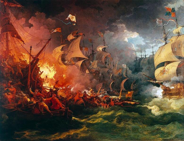 8 августа 1588 года В ходе Англо-испанской войны английский флот нанес сокрушительный удар испанской «Непобедимой армаде»