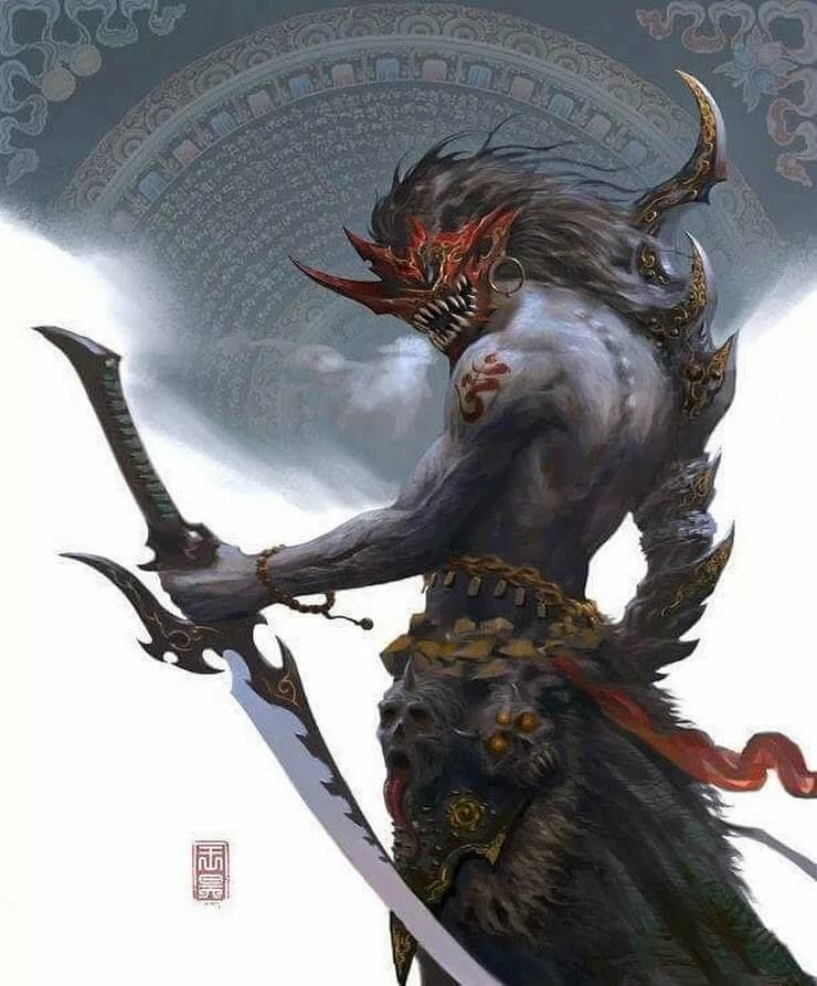 Картинки китайских демонов