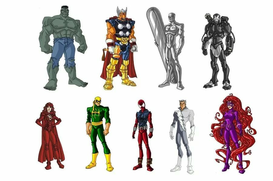 Мстители герои картинки и имена