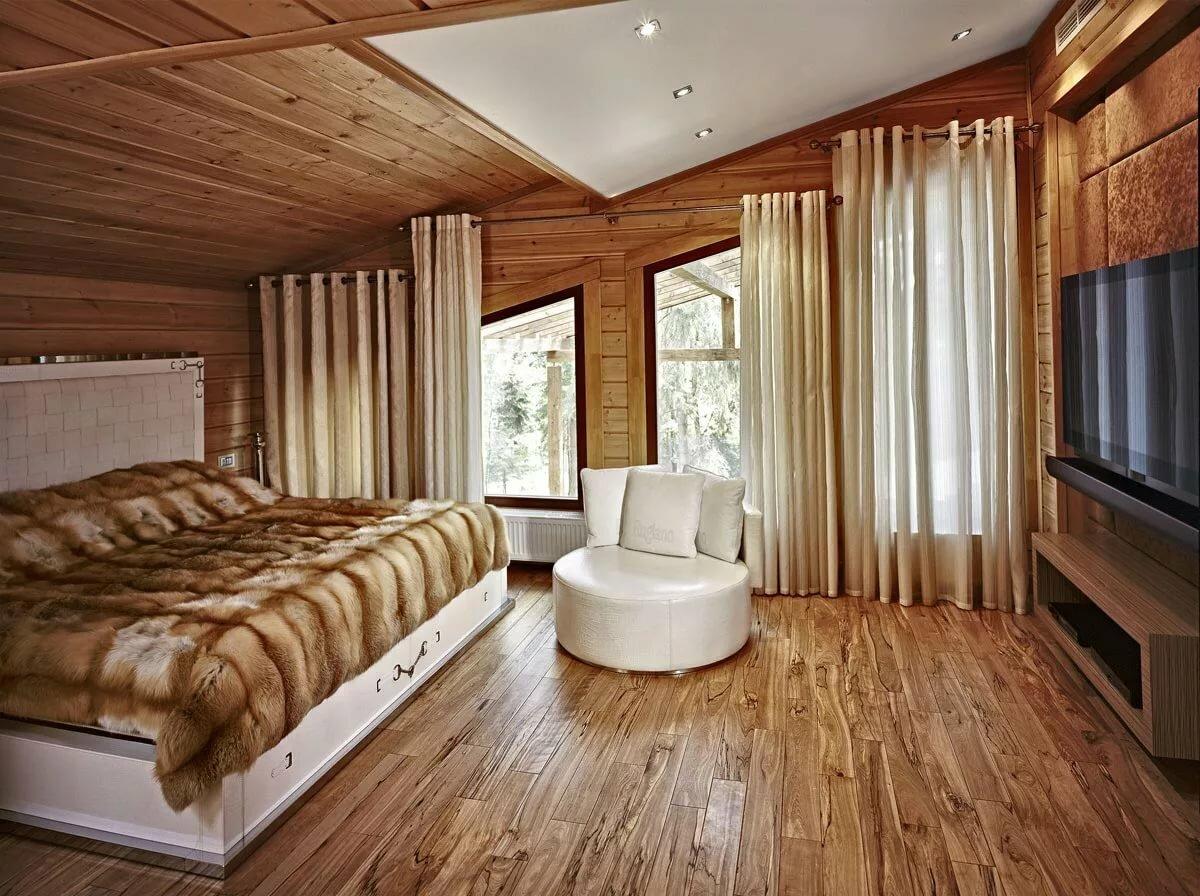 интерьеры деревянных коттеджей в картинках заставляет хоть
