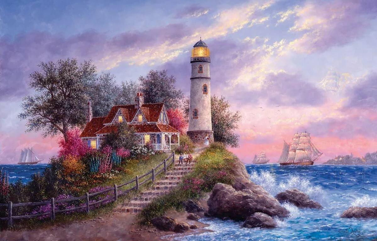 Марина днем, открытки море пейзажи