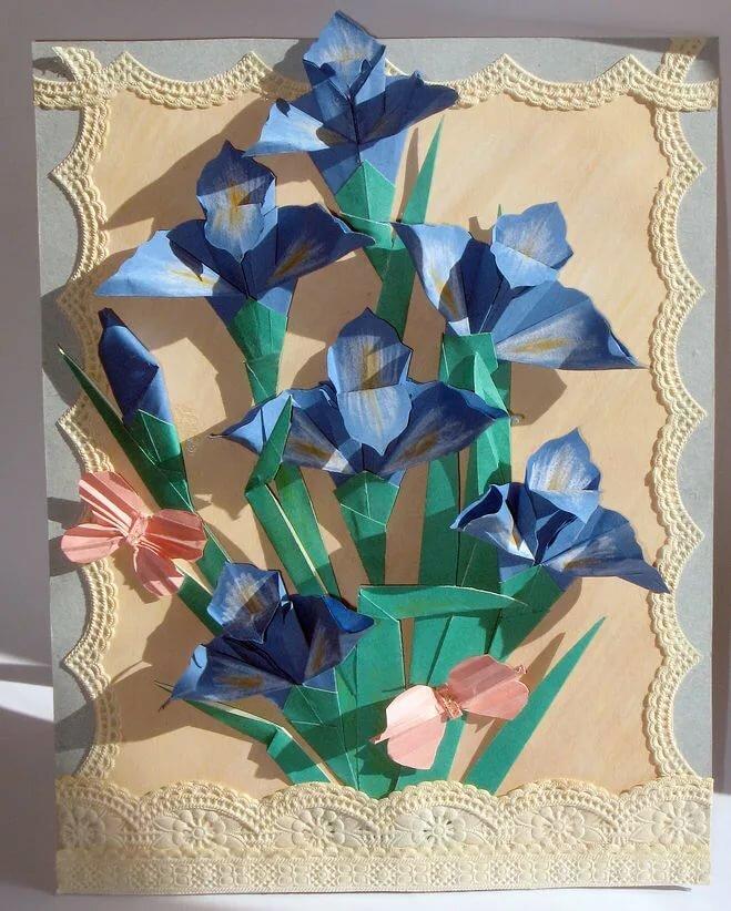 Открытка с цветами оригами своими руками, пони дружба это