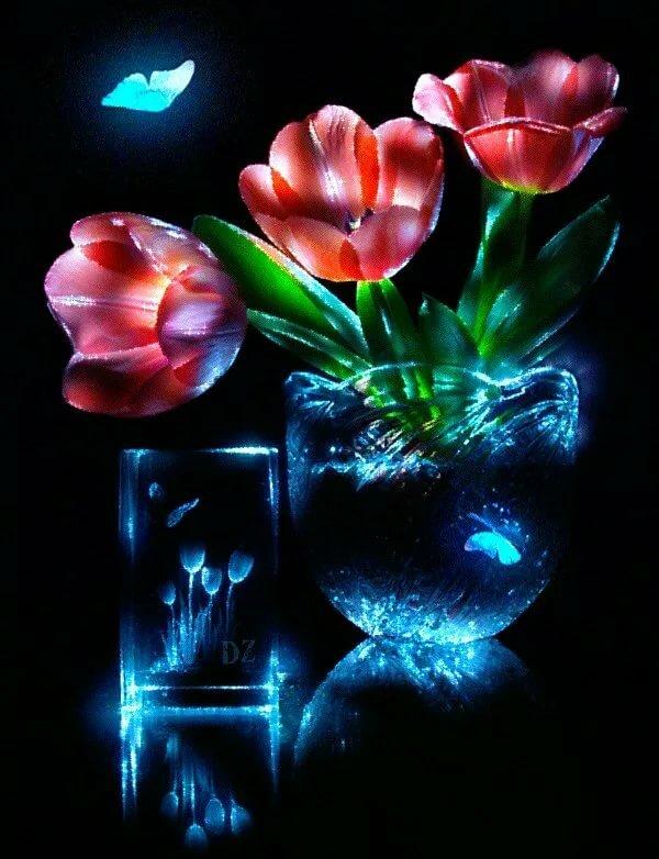 Картинка цветы гифы
