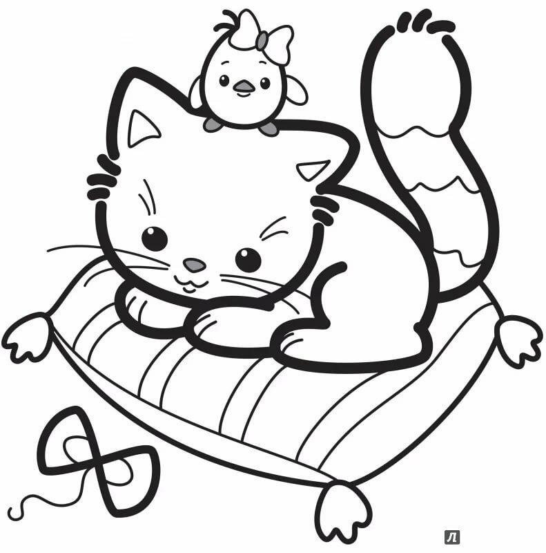 Днем, картинки с котятами смешные раскраски
