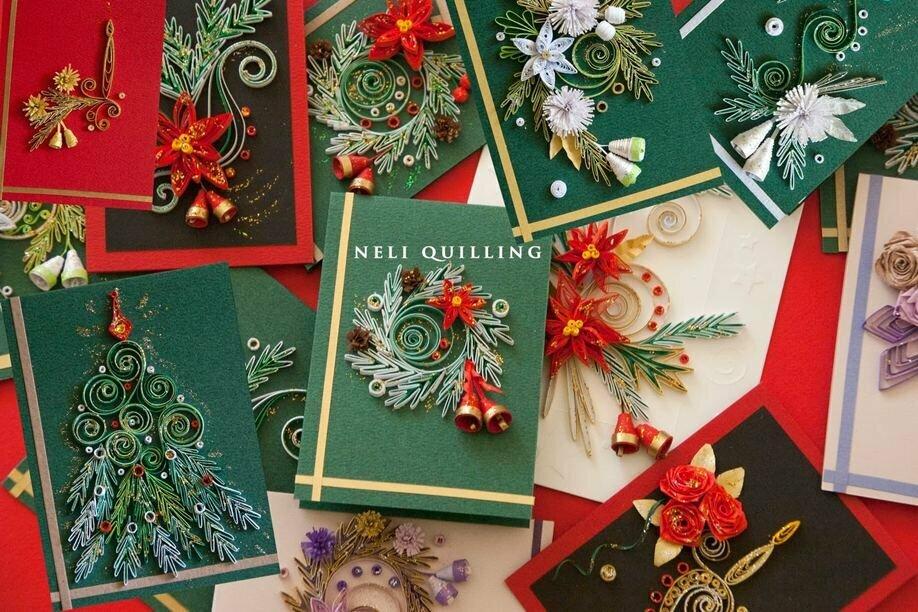 Новогодняя открытка своими руками к рождеству