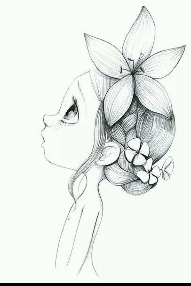 Рисунки карандашом для девочек прикольные