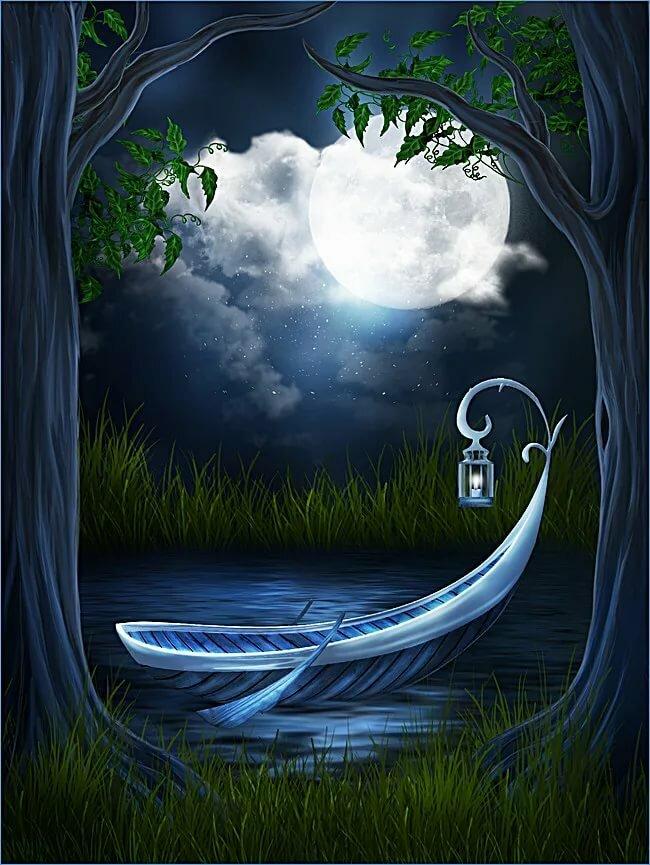 Картинки сказочными лодками