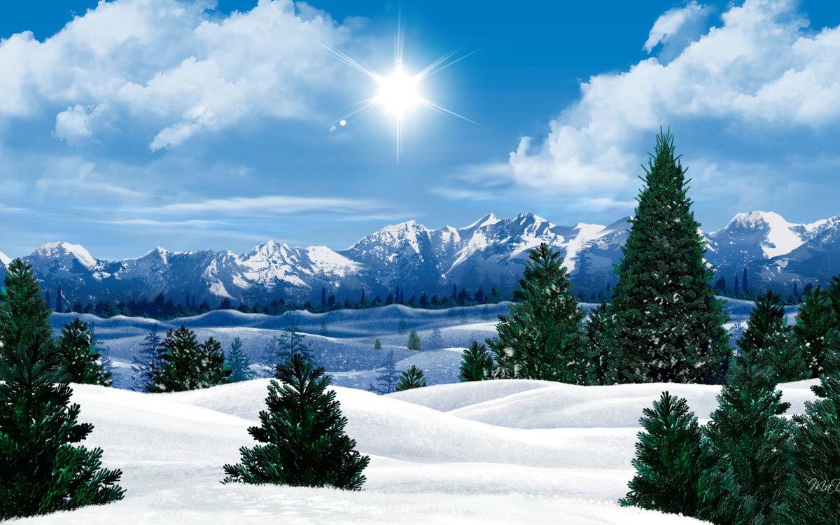 Картинки зимние природа на рабочий стол