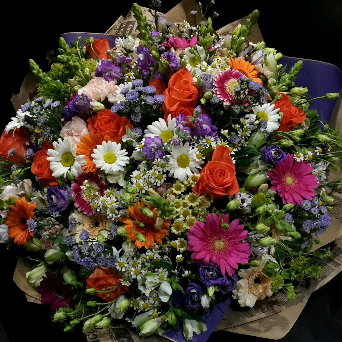Неожиданно приятный букет цветов, букет