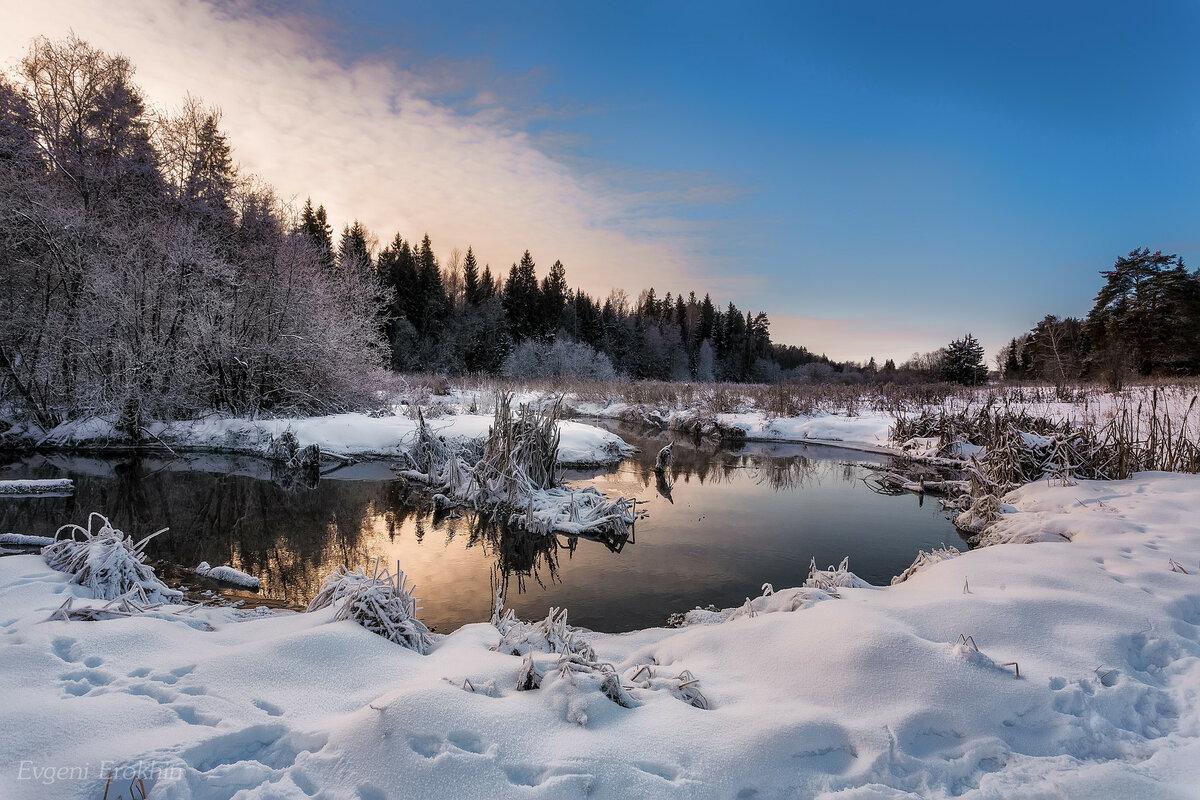 Фотографирование пейзажей зимой