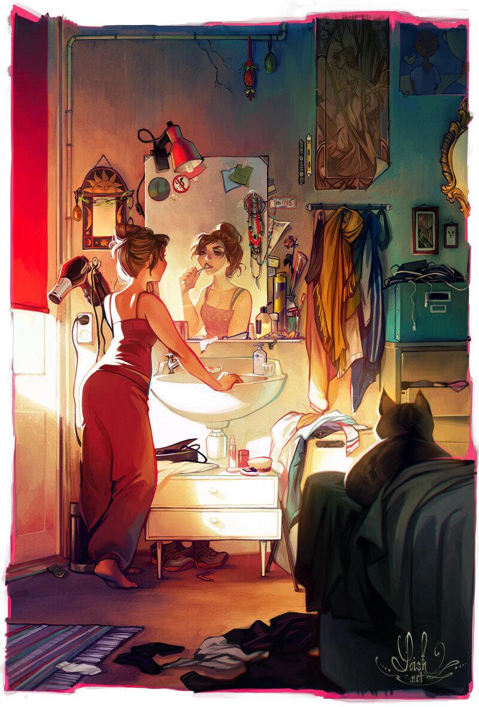 Картинки с зеркалом прикольные