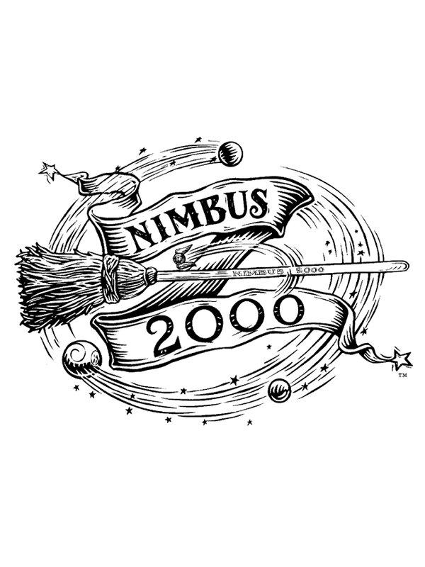 Coloriage A Imprimer Harry Potter Le Nimbus 2000 Gratuit Et