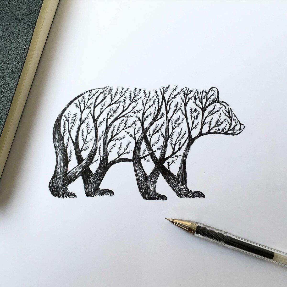 Картинки из гелевой ручки
