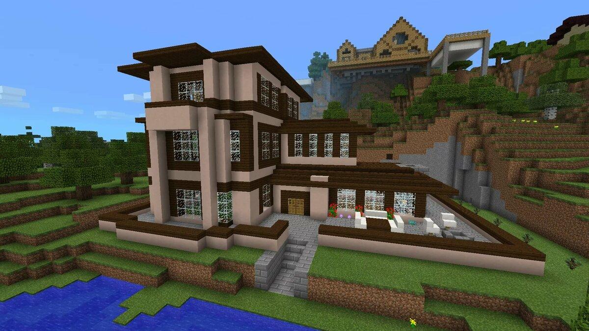 смотреть картинки крутых домов в майнкрафте внимательный персонал, который