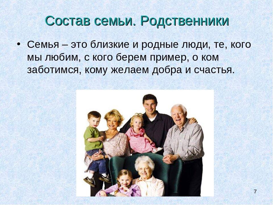 Презентация в картинках моя семья