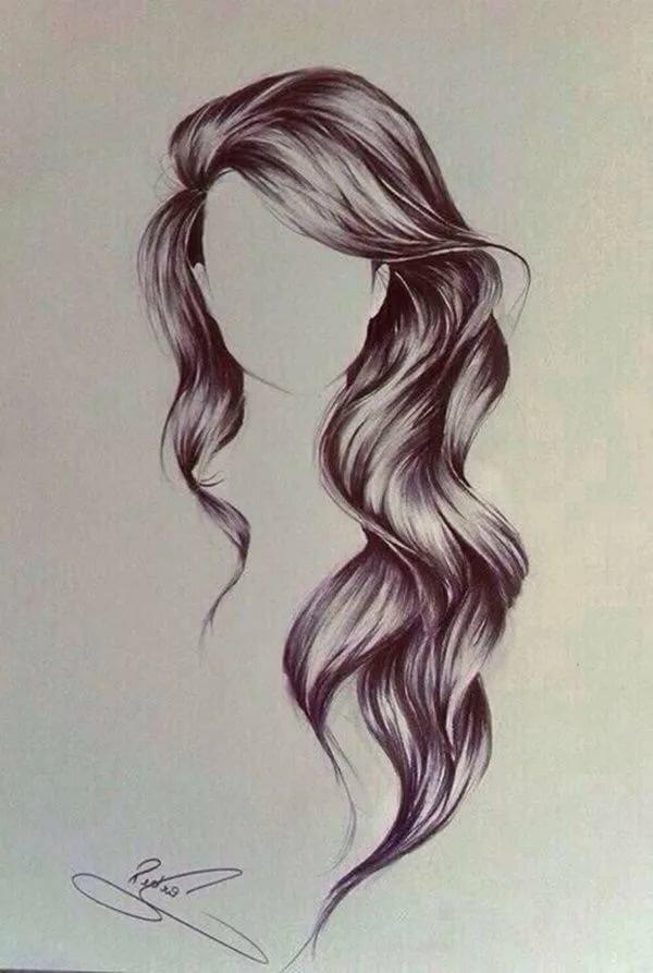 картинка рисунок на волосах