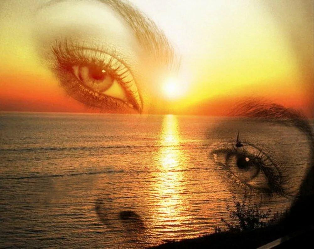 Картинка глаза и море