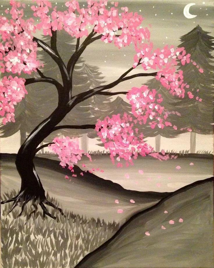картинки сакура в цвету нарисовать полное зависание системы