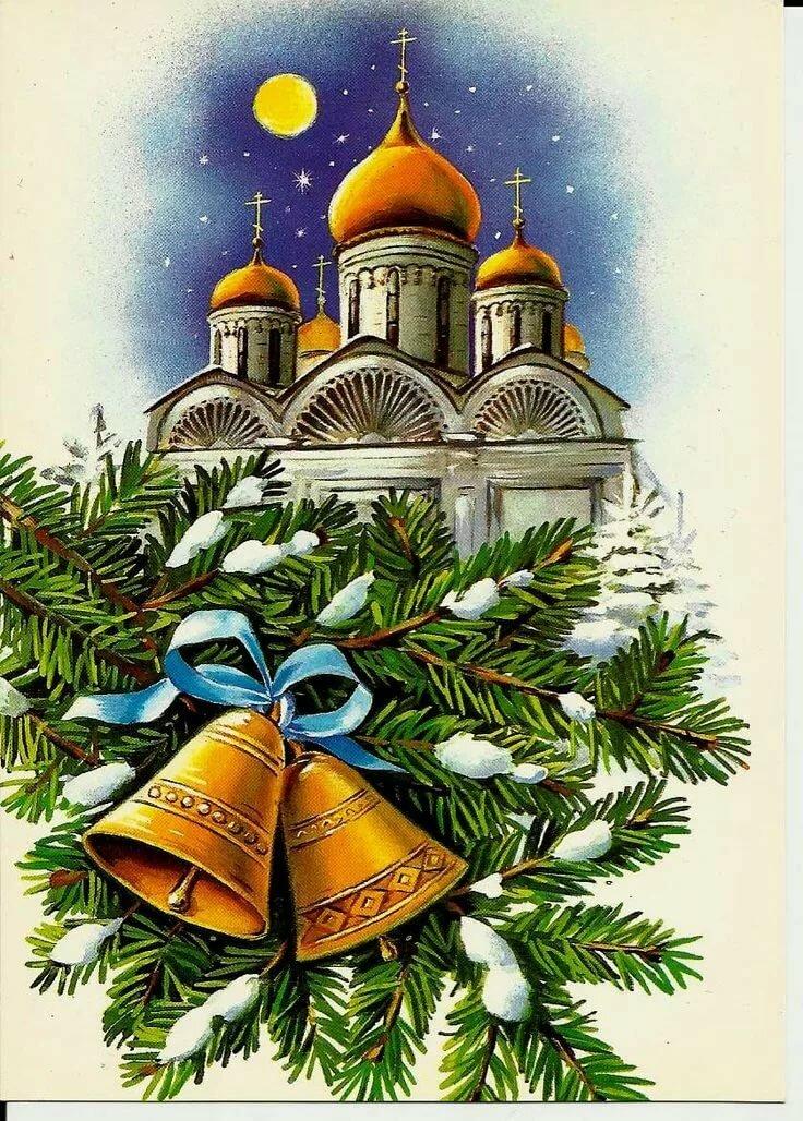 Рисуем рождественскую открытку, сделать