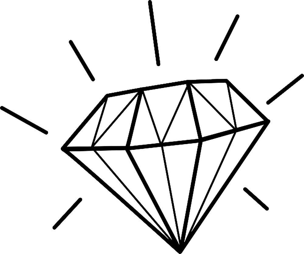 Рисунки кристаллов и алмазов